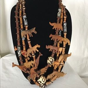 Africa Wooden Carved Animal Safari Fetish Bundle